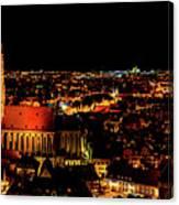 Evening Panorama - Landshut Germany Canvas Print