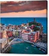 Evening Rolls Into Vernazza Canvas Print