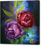 Evening Roses Canvas Print