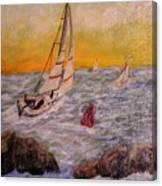 Evening Sail Canvas Print