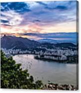 Evening Sky Over Rio De Janeiro Canvas Print