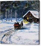Evening Sleigh Ride Canvas Print