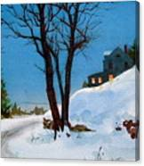 Evening Snow Canvas Print