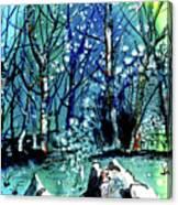 Evening Snowstorm Canvas Print