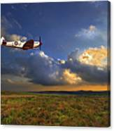 Evening Spitfire Canvas Print