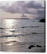 Evening The Isle Of Eigg  Inner Hebrides From The Beach At Arisaig Scotland Canvas Print