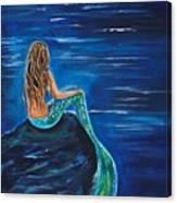 Evening Tide Mermaid Canvas Print