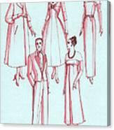 Evening Wear, 1956 Canvas Print
