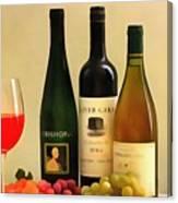 Evening Wine Display Canvas Print