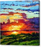 Evenings Final Glow Canvas Print
