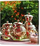 Event - Tea Garden Party Silver Sevice Canvas Print