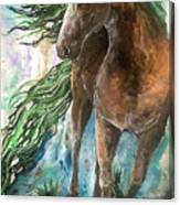 Ever Green  Earth Horse Canvas Print