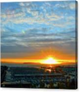 Everett Marina Sunset Canvas Print