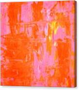Everyone's Fav - Pink And Orange Abstract Art Painting Canvas Print