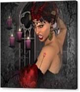 Evil Beauty Canvas Print