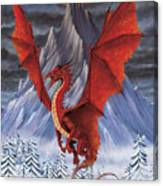 Evil Red Dragon Canvas Print