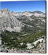Evolution Lake And Valley Panorama From Darwin Bench - Sierra Canvas Print