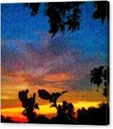 Exagerated Sunset Painting Canvas Print