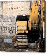 Excavator Canvas Print
