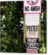 Excessive Property Signs Canvas Print