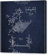 Exercise Machine Patent From 1961 - Navy Blue Canvas Print