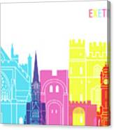 Exeter Skyline Pop Canvas Print