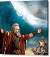 Exodus Moses And Pharaoh  Of Egypt Canvas Print