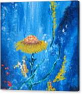 Exotic Colorful Flowers Abstract Composition Canvas Print