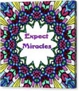 Expect Miracles 2 Canvas Print