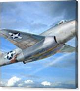 Experimental Jet Fighter Xp-83 In Fly Canvas Print
