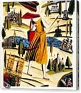 Explore London With A London Transport Explorer Pass - London Underground - Retro Travel Poster Canvas Print