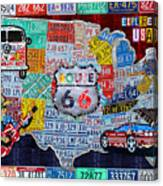 Explore The Usa License Plate Art And Map Travel Collage Mixed Media ...