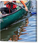 Exploring Along The Exeter Canal Canvas Print