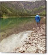 Exploring Glacier Canvas Print