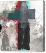 Expressionist Cross 4- Art By Linda Woods Canvas Print