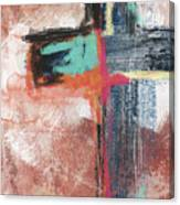 Expressionist Cross 5- Art By Linda Woods Canvas Print