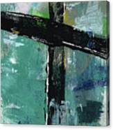 Expressionist Cross 8- Art By Linda Woods Canvas Print