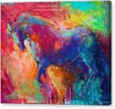 Expressive Stallion Painting By Canvas Print