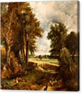Extensive Landscape With Boy Drinking Water Canvas Print