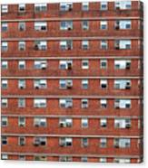 External Facade With Many Windows All Identical. Canvas Print