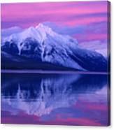 Extreme Sunset On Lake Mcdonald Canvas Print