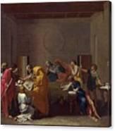 Extreme Unction Nicolas Poussin Canvas Print