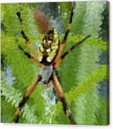 Extruded Spider Canvas Print