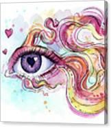 Eye Fish Surreal Betta Canvas Print