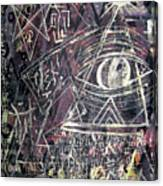 Eye In Triangle Canvas Print