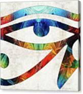 Eye Of Horus - By Sharon Cummings Canvas Print