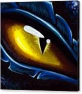 Eye Of The Blue Dragon Canvas Print
