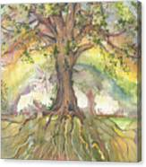 Eye See My Healing Tree Canvas Print