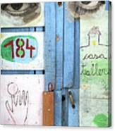 Eyes Door Canvas Print