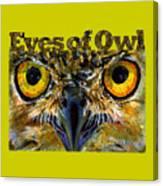 Eyes Of Owls 18 Shirt Canvas Print